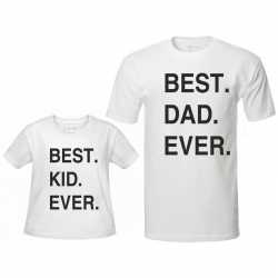 "Koszulki ""Best Dad - Best Kid ever"""