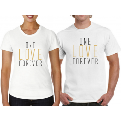 "t-shirty dla pary ""One love Forever"""