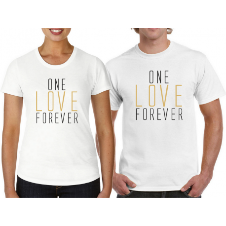 """t-shirty dla pary """"One love Forever"""""""